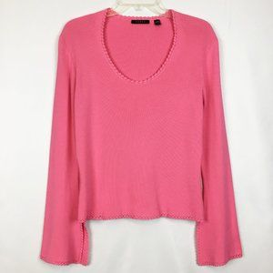 CYRUS Scoop Neck Knit Top With Bell Sleeves